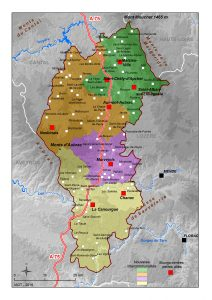 Carte des intercommunalités du Pays du Gévaudan-lozère