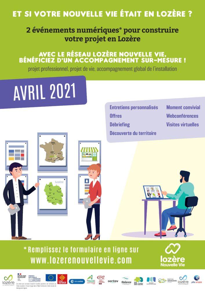 affiche A4 sessions accueil et Lozere dating 2021