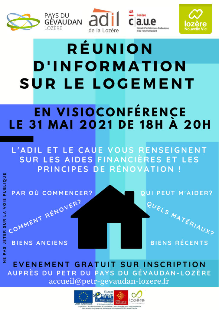 Affiche réunion logement numérique 31 05 2021